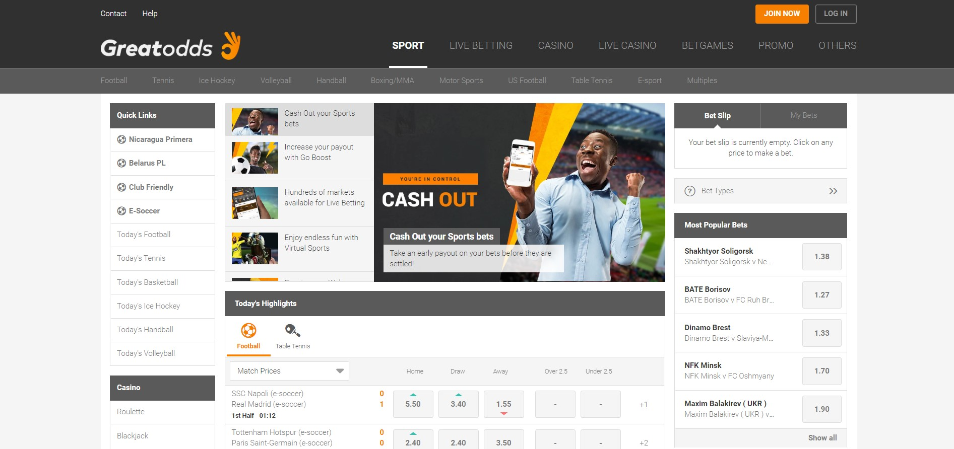 Greatodds sports betting site